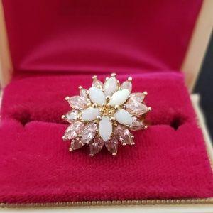 Opal costume jewelry ring